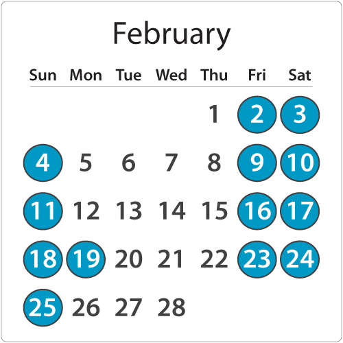 MagicBus Rates/Schedule February